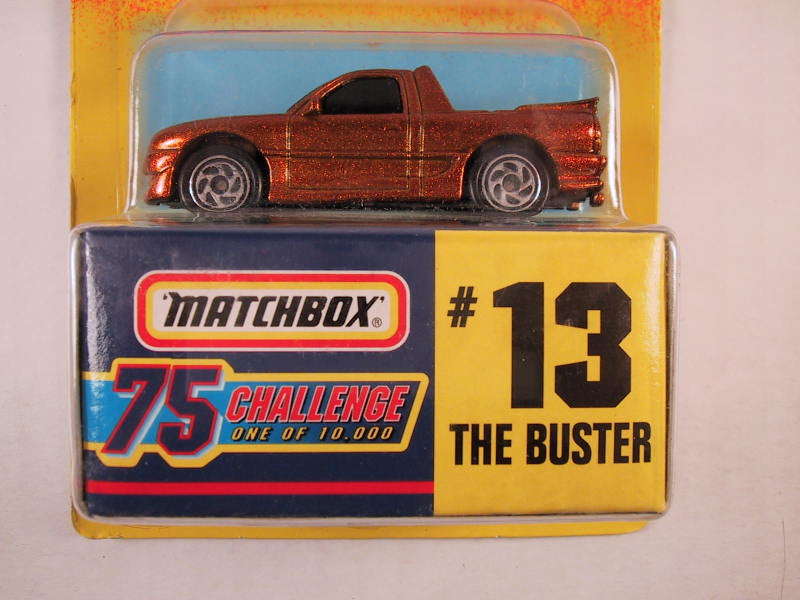 Matchbox 75 Challenge Gold Vehicle, #13 The Buster