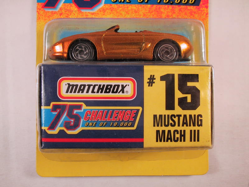 Matchbox 75 Challenge Gold Vehicle, #15 Mustang Mach III