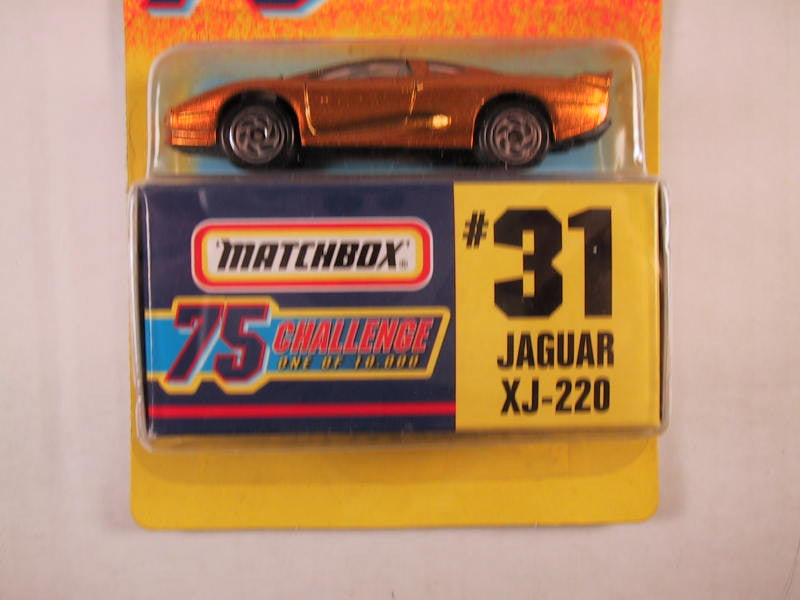 Matchbox 75 Challenge Gold Vehicle, #31 Jaguar XJ-220