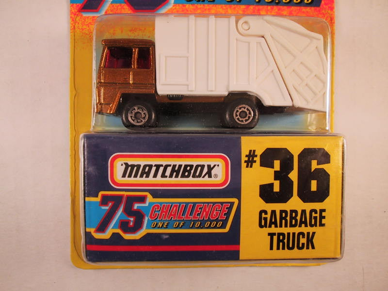 Matchbox 75 Challenge Gold Vehicle, #36 Garbage Truck