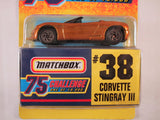 Matchbox 75 Challenge Gold Vehicle, #38 Corvette Stingray III