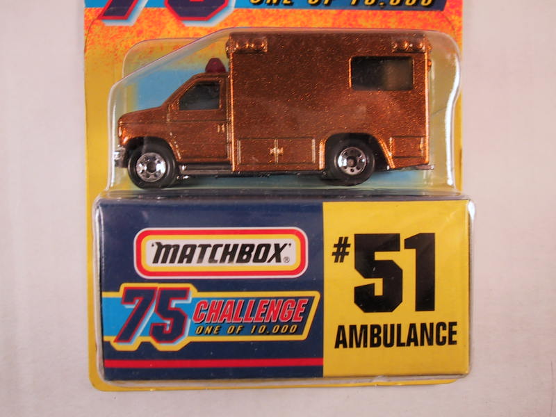 Matchbox 75 Challenge Gold Vehicle, #51 Ambulance