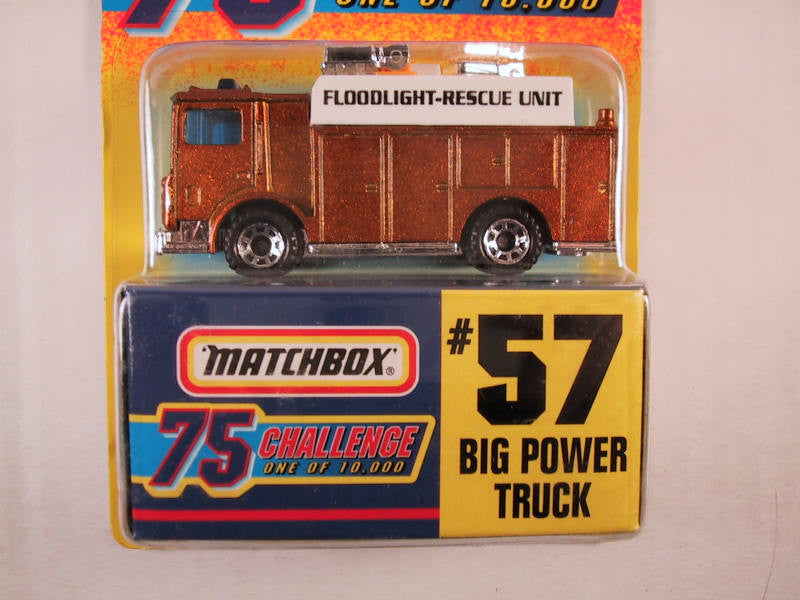 Matchbox 75 Challenge Gold Vehicle, #57 Big Power Truck