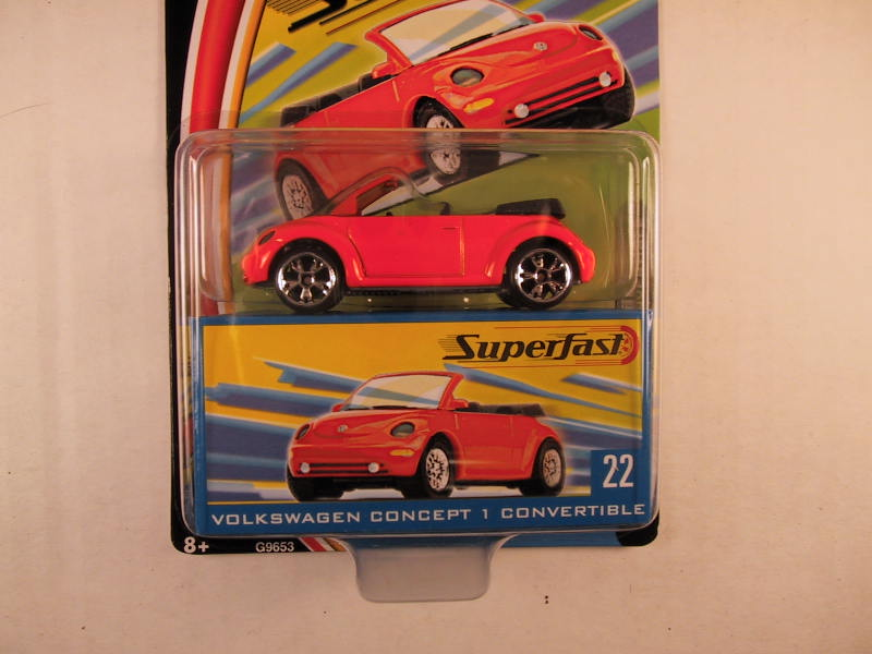 Matchbox Superfast 2004, #22 Volkswagen Concept 1 Convertible