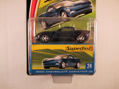Matchbox Superfast 2004, #24 Chevrolet Corvette C6 - Blue