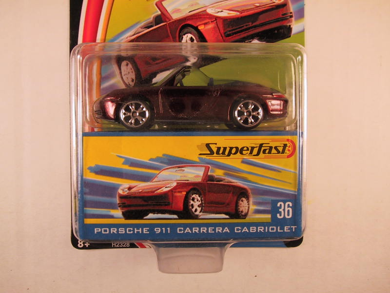Matchbox Superfast 2004, #36 Porsche 911 Carrera Cabriolet