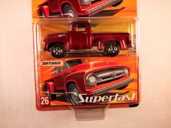Matchbox Superfast 2005 USA, #26 1956 Ford F-100 - Damaged Card