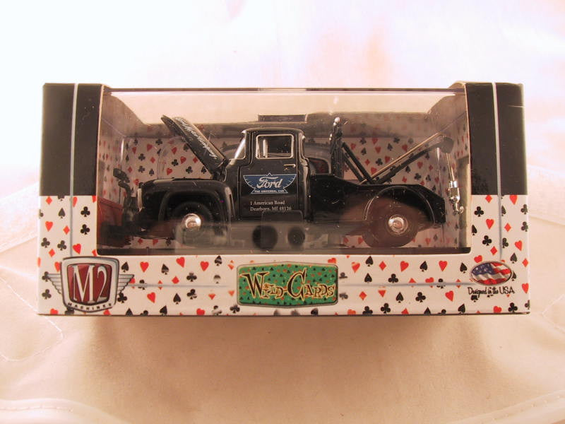 M2 Machines Wild Card Auto-Thentics, Release 03, 1956 Ford F-100 Tow Truck, Black