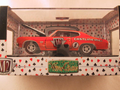 M2 Machines Wild Card Detroit Muscle, Release 02, 1970 Chevrolet Chevelle SS, Orange
