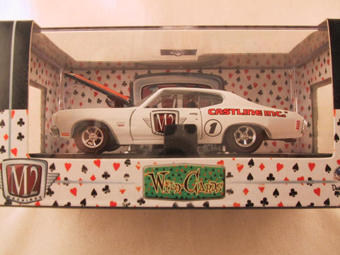 M2 Machines Wild Card Detroit Muscle, Release 02, 1970 Chevrolet Chevelle SS, White