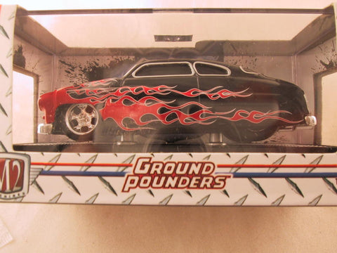M2 Machines Ground Pounders, Release 10, 1949 Mercury, Black with Flames