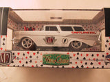 M2 Machines Wild Card Ground Pounders, Release 02, 1957 Chevrolet Nomad Station Wagon, White