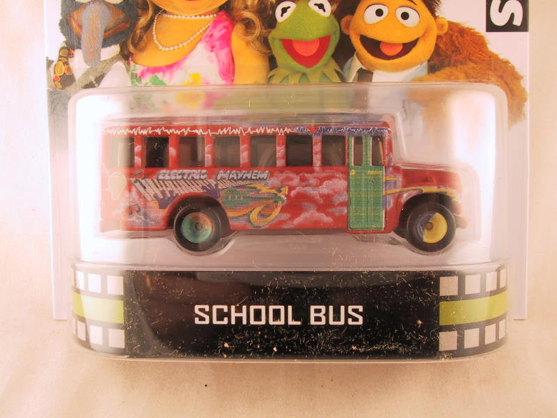 Hot Wheels Retro Entertainment 2013, The Muppets School Bus - Damaged Blister