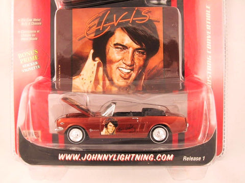 Johnny Lightning Rock Art, '65 Ford Mustang Convertible, Elvis Presley