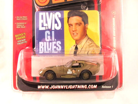 Johnny Lightning Rock Art, '66 Shelby Cobra Daytona, Elvis Presley