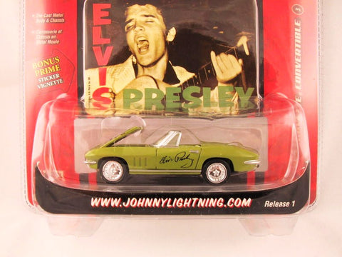 Johnny Lightning Rock Art, '67 Corvette Convertible, Elvis Presley