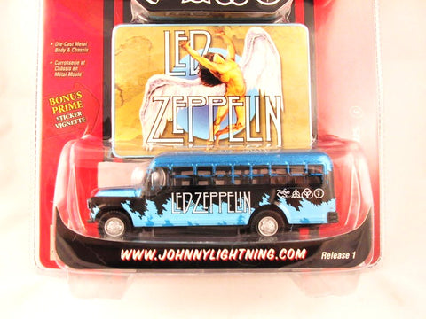 Johnny Lightning Rock Art, '56 Chevy Bus, Led Zeppelin