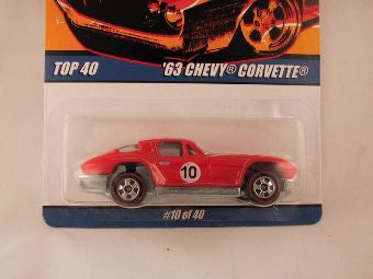 Hot Wheels Since '68 Top 40, '63 Chevy Corvette