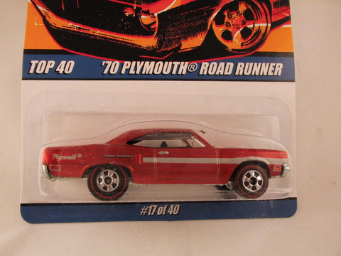 Hot Wheels Since '68 Top 40, '70 Plymouth Roadrunner
