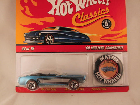 Hot Wheels Classics with Button, '65 Mustang Convertible