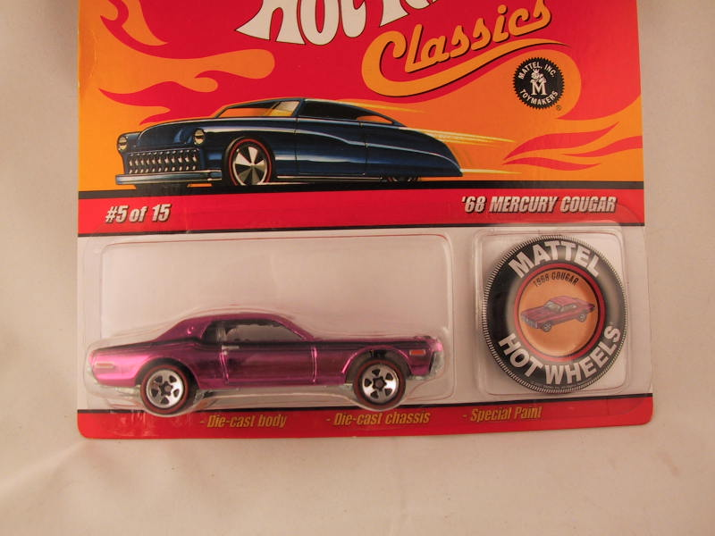 Hot Wheels Classics with Button, '68 Mercury Cougar