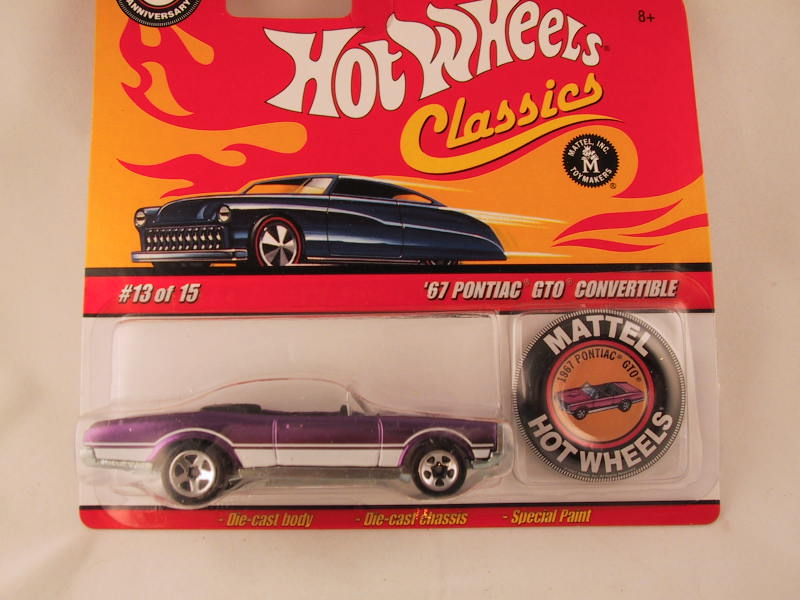 Hot Wheels Classics with Button, '67 Pontiac GTO Convertible