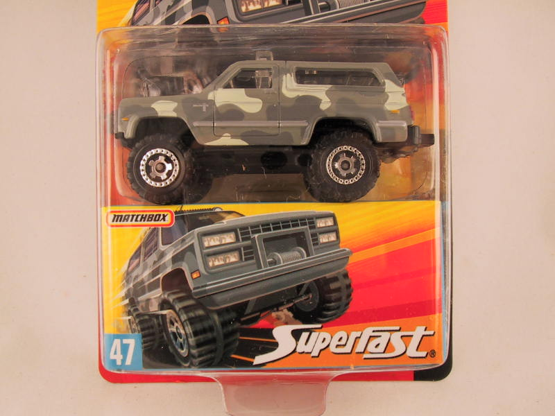 Matchbox Superfast 2006-2007, #47 Chevrolet Blazer 4X4