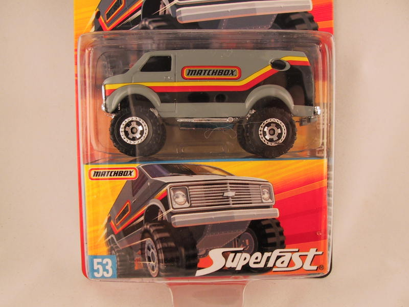 Matchbox Superfast 2006-2007, #53 4X4 Chevy Van