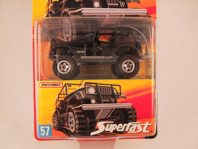 Matchbox Superfast 2006-2007, #57 Jeep Wrangler 4X4