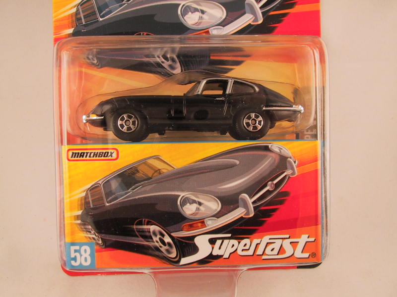 Matchbox Superfast 2006-2007, #58 1961 Jaguar E-Type Coupe
