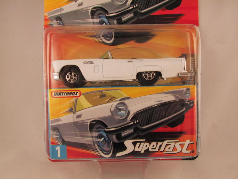 Matchbox Superfast 2006-2007, #01 1957 Ford Thunderbird