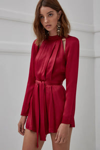 CANT RESIST LS PLAYSUIT (XS) NUDEREUSE