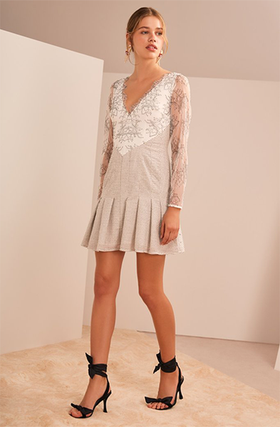 RADIANT LS MINI DRESS