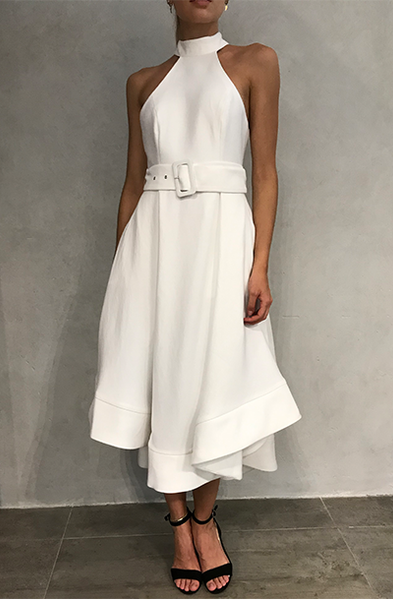 CONFIRMATIVE MIDI DRESS