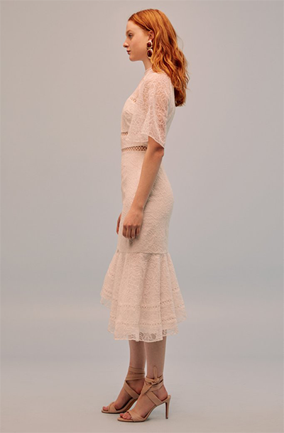 AWAKEN LACE MIDI DRESS