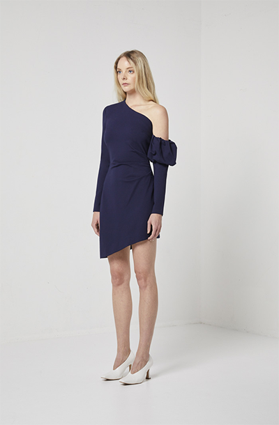 BASIN DRESS WITH DETACHABLE SLEEVE