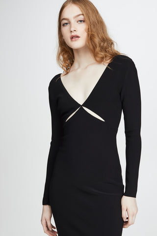 ULLA L/S CUT OUT MIDI DRESS