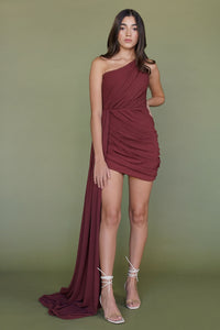 SUMER BURGUNDY DRESS
