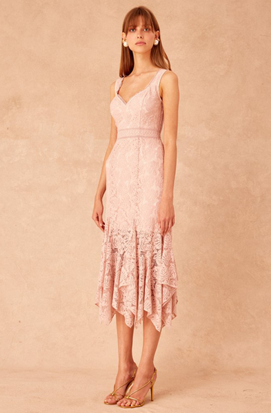 LONELY LACE MIDI DRESS