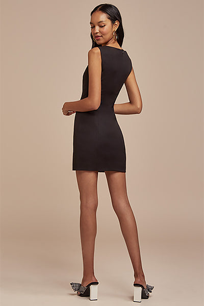 NAOMI MINI DRESS (M) - NUDE REUSE