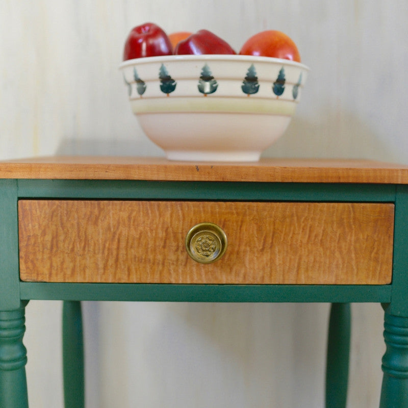 Annie Sloan Amsterdam Green Side Table