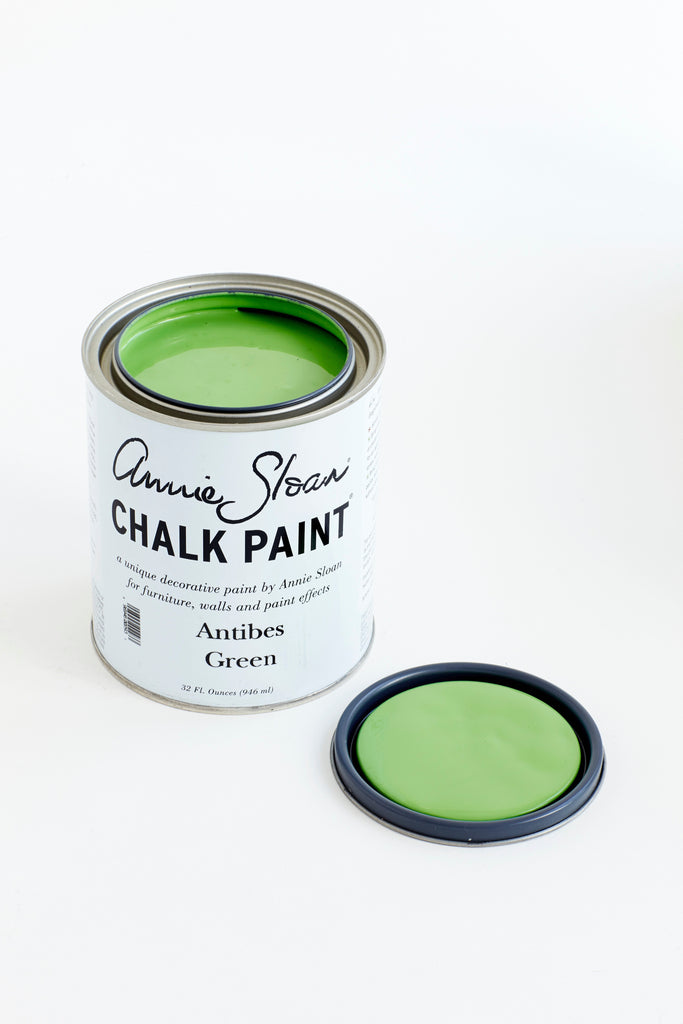 Annie Sloan Chalk Paint Antibes Green Can Open