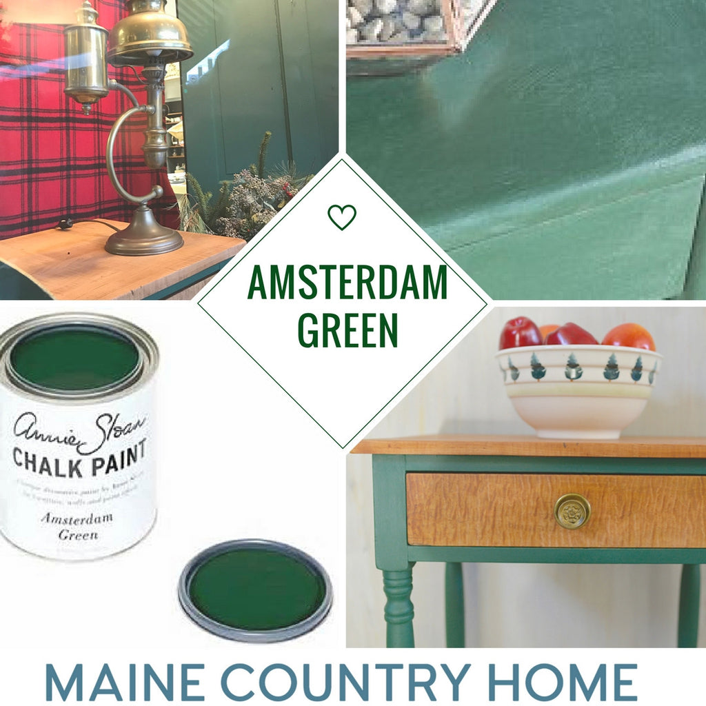 Annie Sloan Amsterdam Green Maine Country Home Collage