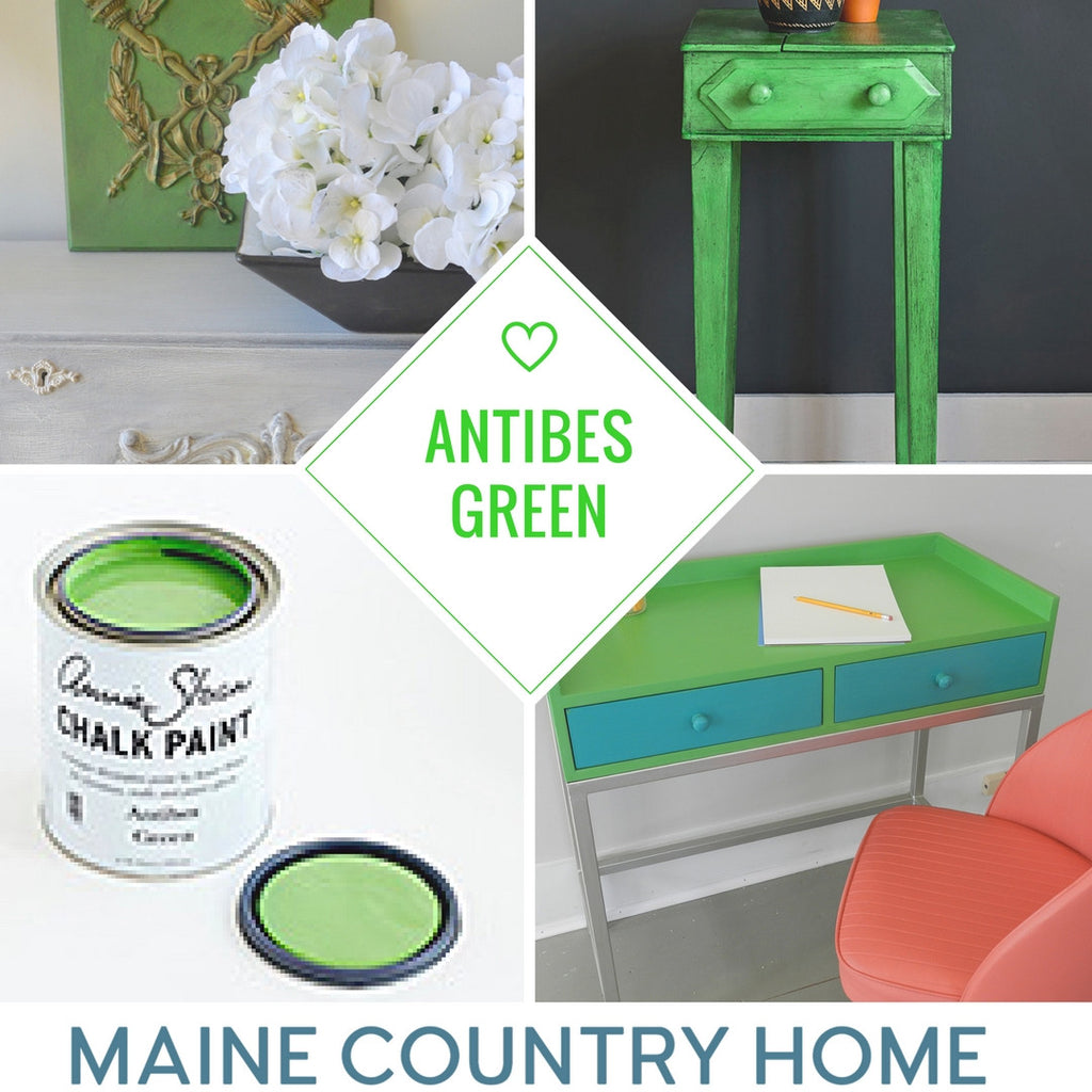 Annie Sloan Antibe Green at Maine Country Home