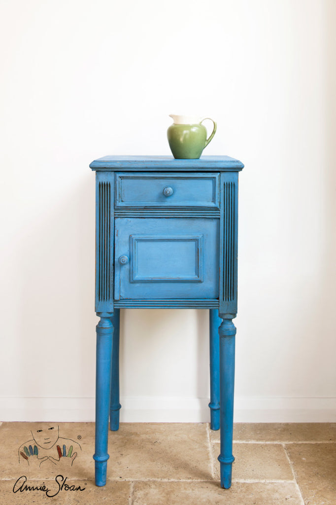 Annie Sloan Greek Blue nightstand