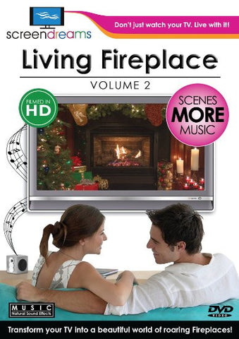 Screen Dream Living Aquarium V.2 + Living Fireplace V.1 (2DVD Pack)