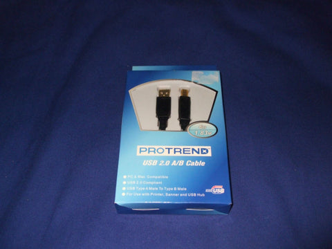 Protrend USB 2.0 A/B Cable 6ft