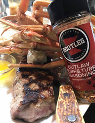 Outlaw Surf & Turf steak and crab