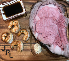 Outlaw Surf & Turf Prime Rib and Shrimp