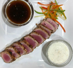 Bootleg Outlaw Surf & Turf Crusted Tuna